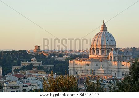 The Basilica Of St. Peter View From The Gianicolo - Rome