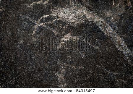 Black Limestone Rock Texture Background
