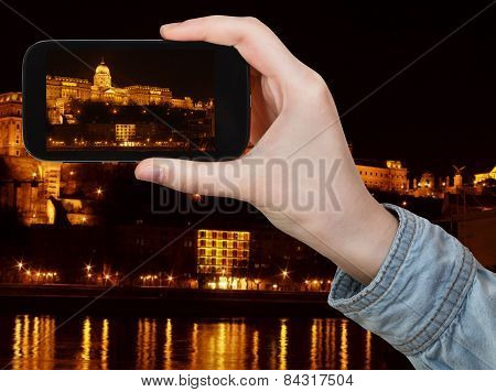 Hungarian Parliament Building In Night
