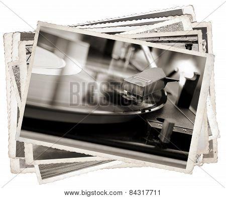 Vintage Photo Old Gramophone