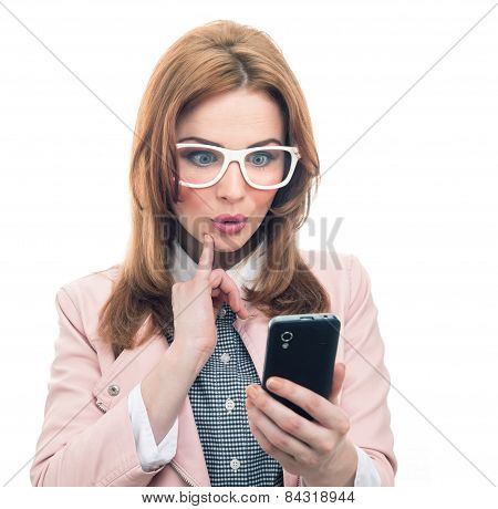 Trendy Woman On Phone