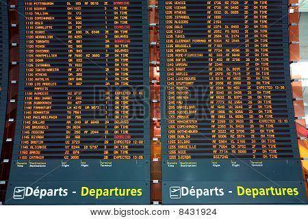 Plane Departure Board