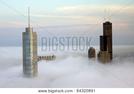 Chicago through the Clouds