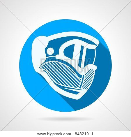 Paintball mask round vector icon