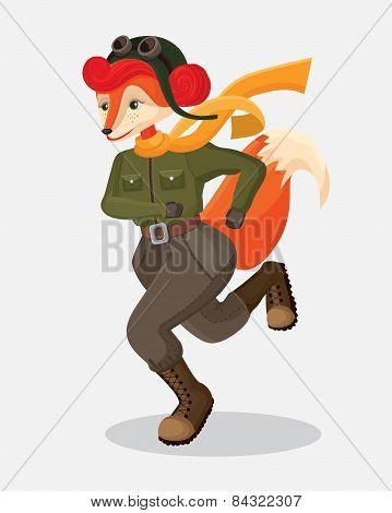 running military fox-pilot