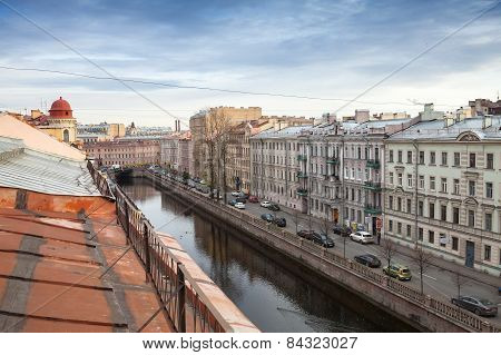 St. Petersburg, Russia. Griboyedov Canal Embankment