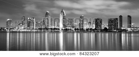 Late Night Coronado San Diego Bay Downtown City Skyline
