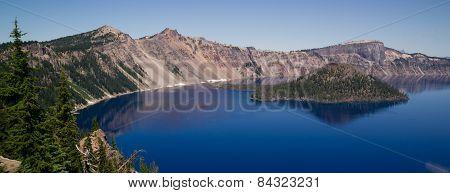 Crater Lake Wizard Island West Rim Caldera Volcano Cone