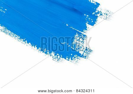 Stroke Blue Paint Brush