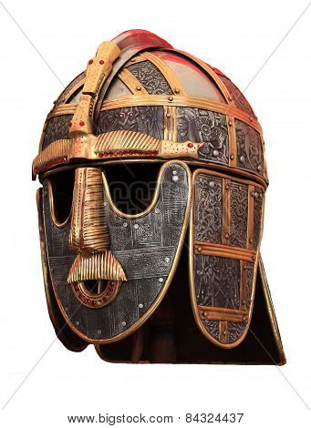 Medieval knights armour helmet isolated