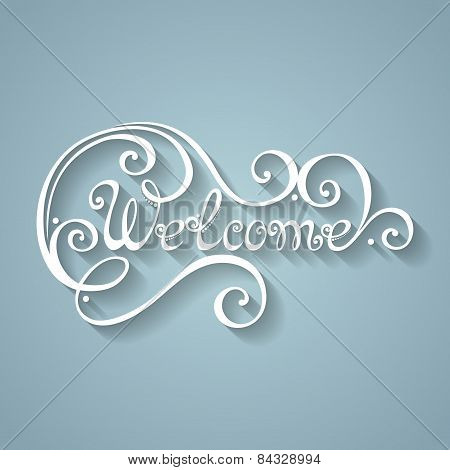 Vector Welcome Inscription