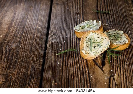 Baguette With Herb Butter And Rosemary