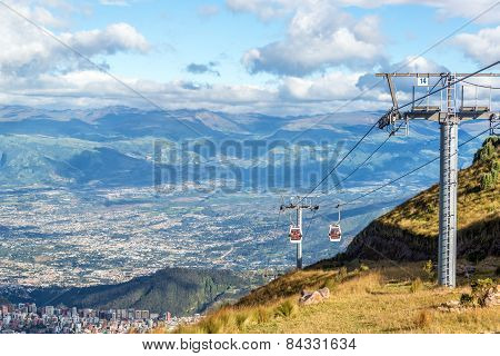 Gondola Rising From Quito