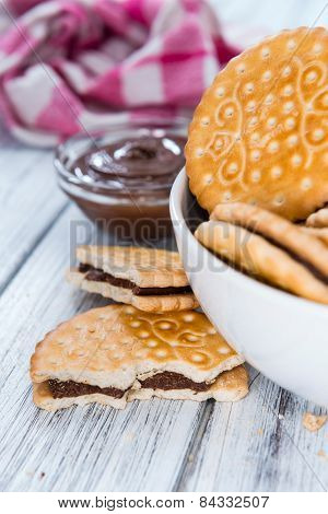 Double Cookies (with Chocolate Cream)