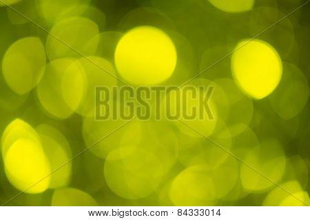 Blur Lights Green