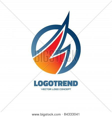 Logotrend - vector logo concept illustration. Abstract logo illustration. Vector logo template.