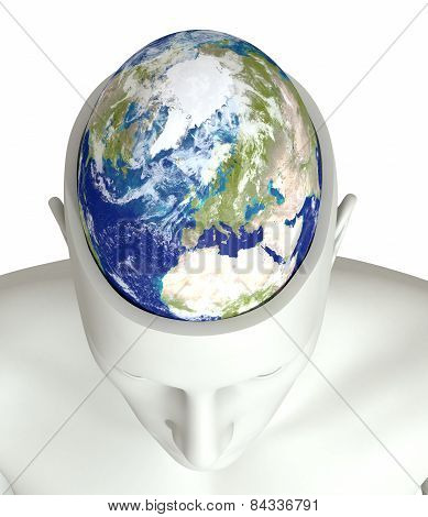 Global Thinking - Elements Of This Image Furnished By Nasa