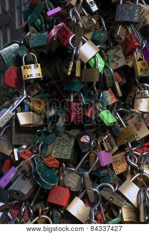 Lock At The Bridge, Key In The Water: Love Bridge In Netherlands