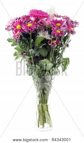 Colorful Spring Flowers Bouquet With Chrysanthemums