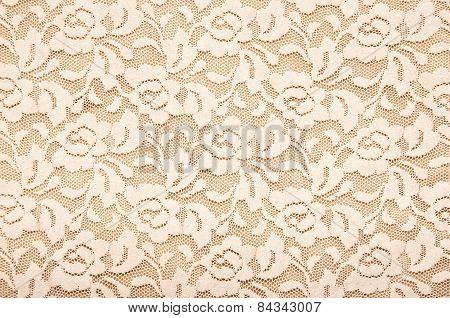 Beige lace texture