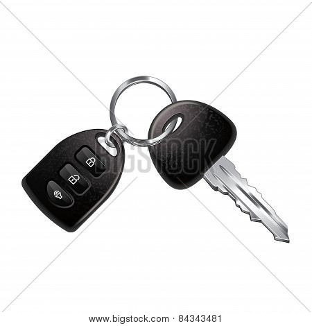 Car Keys Isolated On White Vector