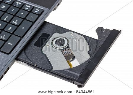 Laptop With Open Dvd Tray