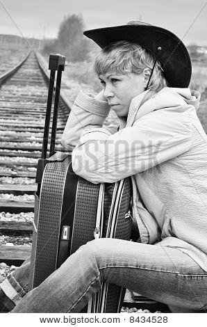 Tired Traveler, Black And White