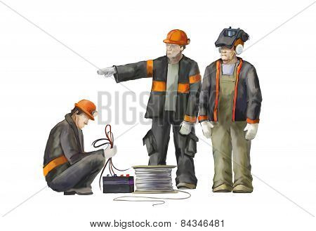 Welder and electrician and project manager