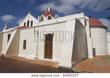 Exterior of the church of Our Lady of Mercedes in Santo Cerro, Dominican Republ