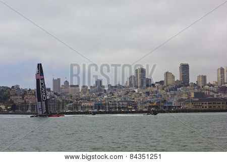 Oracle boat In San Francisco