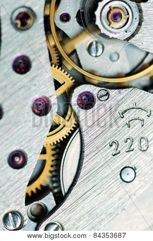 Watch Mechanism Very Close Up