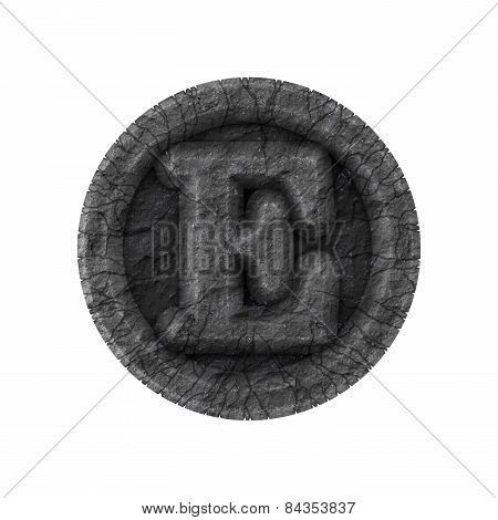 Grunge Font - Letter E