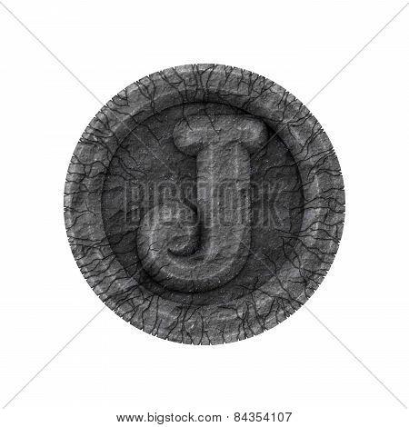 Grunge Font - Letter J