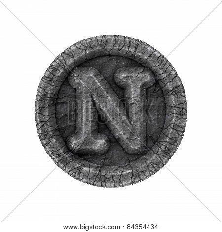 Grunge Font - Letter N