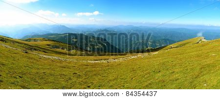 Trail On The Ridge Of The Austrian Alps, Beautiful View