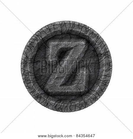 Grunge Font - Letter Z
