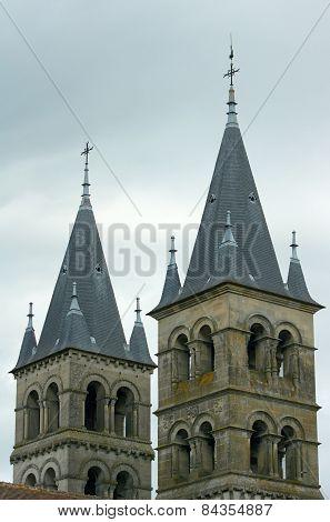 Romanesque church towers