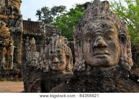 East gate of Angkor Thom Ancient city, Cambodia