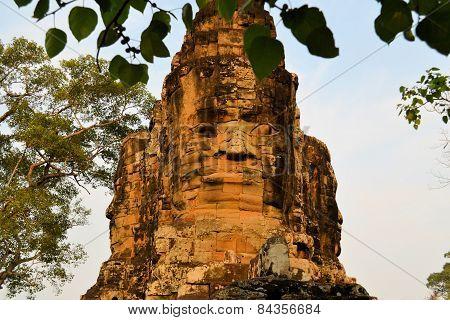 North Gate to Angkor Thom ancient city, Cambodia.