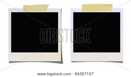 Taped Blank Photo (clipping Path)