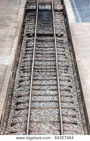 Straight Railway Line