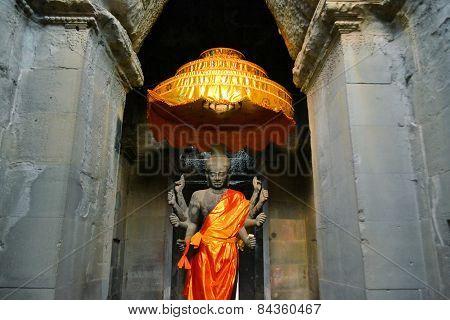 Ancient Buddhist Altar, Angkor Wat, Cambodia
