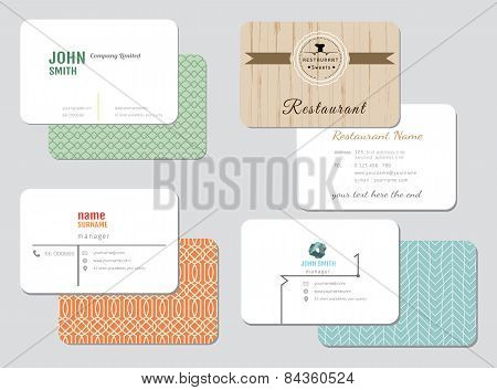 Business card vector background set