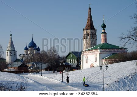 St. Nicholas Church On A Winter Day In Suzdal