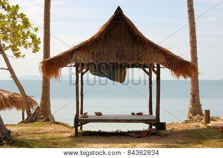 Tropical beach hut in Thailand