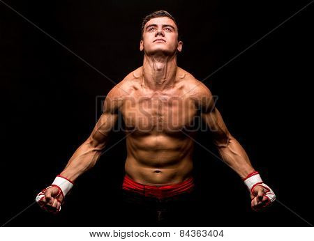 Male model. Kickboxing.