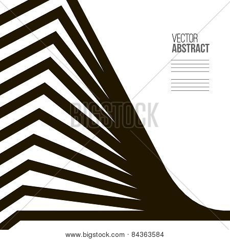 Geometric Vector Black And White Background. Architecture And Construction Concept. Avant-garde Styl