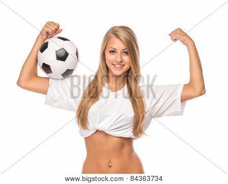 Female model. Soccer.