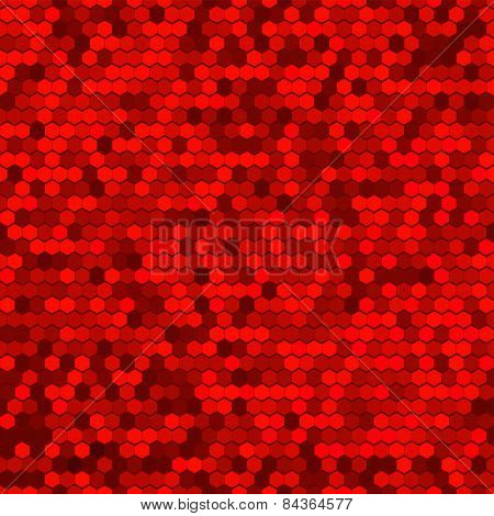 Abstract Red Seamless Vector Cell Pattern