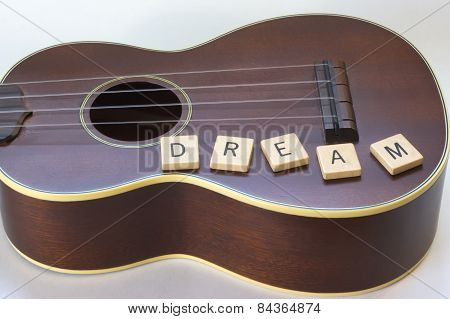 Ukulele Dream on white Background